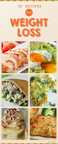 "Healthy recipes to lose weight ""50 Recipes for Weight Loss--enjoy delicious recipes to help drop the pounds! #weightloss #recipes #skinnyms"""