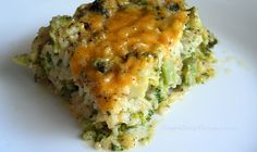 Cheesy broccoli and rice casserole - made with brown rice or quinoa is a healthy kiddo pleaser.