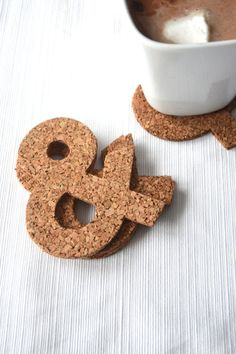 Hey, I found this really awesome Etsy listing at https://www.etsy.com/listing/179742378/ampersand-cork-coaster-set-of-4-symbol