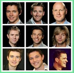 The men of Thunder! Damian McGinty, Paul Byrom, George Donaldson, Neil Byrne, Ryan Kelly, Keith Harkin, Emmett Cahill, Colm Keegan, Emmett O'Hanlon
