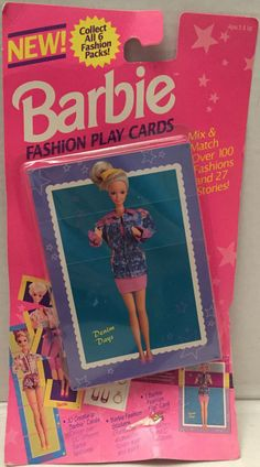 (TAS012741) - 1993 The River Group Barbie Fashion Play Cards - Denim Days