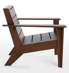 Wow check out this awesome wooden chair - what an inspired type Wooden Dining Room Chairs, Rustic Chair, Rustic Furniture, Cool Furniture, Furniture Design, Polywood Adirondack Chairs, Adirondack Chairs For Sale, Plastic Adirondack Chairs, Outdoor Lounge Chair Cushions