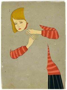 Cierre (o cerramiento): La imagen muestra a dos personas abrazándose. Una de ellas hace visible a la otra.