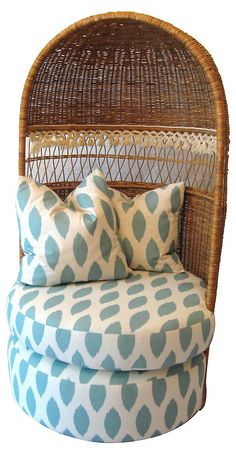 One Kings Lane - Fantasy Island - Wicker Canopy Chair