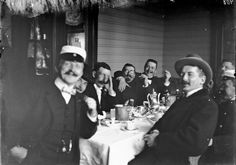 Gentlemen in a restaurant in Helsinki ca 1900 Flickr - Photo Sharing!