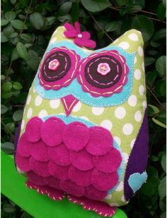 Snazziedrawers Lady Starla Willow Owl Sewing Felt Pattern