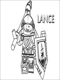 Lego Nexo Knights Coloring Pages 27