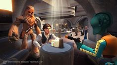 """New Images For Disney Infinity """"Star Wars: Rise Against The Empire"""" Playset Disney Infinity, Disney Pixar, Disney Star Wars, Rise Against, Star Wars Han Solo, Star Wars Rebels, Han Solo Figure, Empire, Video Game Collection"""