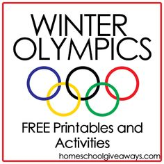 Winter Olympics FREE Printables and Activities | Homeschool Giveaways