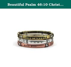 Beautiful Psalm 46:10 Christian Tri-Colored Stretch Bracelet. Mom, Daughter, Sister, Best Friend, Grandma, Inspirational, Girl, Woman, Pandora Style, Morano Beads, Magentic, Stretch, Lobster Clasp, Bangle, Cuff, Bangle, Cute, Girl, Breast Cancer, Animal, Garden, Sea Life, Christian, Family Theme, Pink is the color of Strength, The ribbon is a symbol of Hope, Together it is a sign of Victory. School Teacher, Animal, Garden, Salt Life, Dolphin, Whale, Sand Dollar, Anchor, Sailing, Boat/Ship...