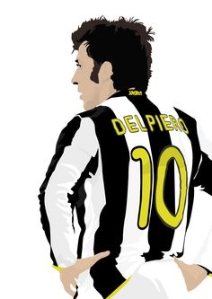 Alessandro Del Piero A3 cartel: 297mmx420mm por EntireDesign