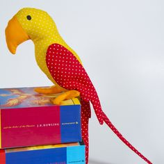 Soft Toy Multicoloured Parrot, Newborn Baby Shower Gift, Nursery Playtime Colourful Decoration