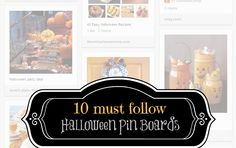 Halloween pin boards you HAVE to see!