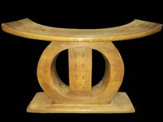 Ashanti stool hand carved in Africa