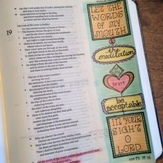 Let the word of my mouth & the meditations of my heart.......