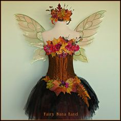 This is beautiful!  Adult fairy costume - The Woodland Autumn Glory Faerie - bust size 36 @ Etsy - FairyNanaLand.