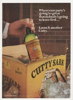 Cutty Sark #blended #scotch #whisky  #vintage #adversing #posters http://ethylmedia.blogspot.it/2016/04/sam-peckinpahs-getaway-1972.html