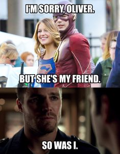 Poor Olly! but hey, #Barry is perfectly justified in my opinion! #SUPERGIRL #FANJACKETS #THEFLASH #ARROW .. FANJACKETS.COM