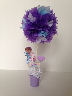 Doc Mcstuffins birthday party decoration, Doc mcstuffins centerpieces by AlishaKayDesigns