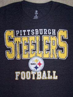 Pittsburgh STEELERS NFL Football Shirt Adult Small Black AFC NFL Team Apparel #NFLTeamApparel #PittsburghSteelers