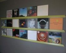 How to display vinyl records as art    http://www.examiner.com/interior-decorating-in-seattle/how-to-display-vinyl-records-as-art