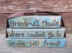 Grandmas House Block Stacker Mothers Day Gift  Fathers Day Gift Grandpas House on Etsy, $14.99