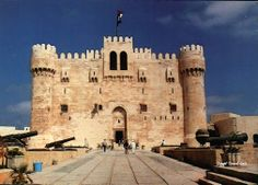 Tours in Alexandria Egypt; 14th Century Citadel of Qaitbay in Alexandria, Egypt. #Egypt #Alexandria #Tours #Trips #Excursions
