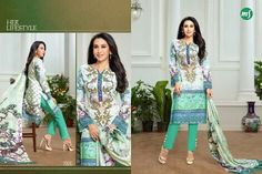 "Karishma kapoor Lawn cotton salwar kameez set  Visit fb page "" imki trendz "" for more details"
