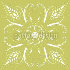 Bandana Mellow Green by Katrin Kristjansdottir available for download on patterndesigns.com