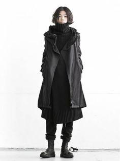 WOMEN :: CLOTH :: TOPS :: COAT :: nude:masahiko maruyama UNISEX Militaly Mods Coat / BLACK