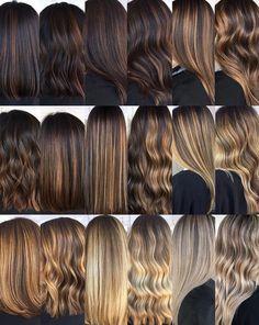 Tiger Eye Hair Color, Two Color Hair, Beautiful Hair Color, Hair Color Highlights, Ombre Hair Color, Hair Color For Black Hair, Sombre Hair, Brown Hair Balayage, Brown Blonde Hair