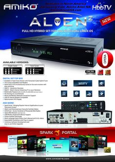 GENUINE Amiko Alien2 Twin Tuner PVR Satellite Receiver with 12 Months Gift. Released last year, now they are a very popular twin tuner at a good price