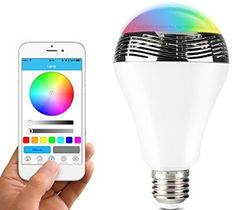 Newest Smart LED Bulb Light Wireless Bluetooth Speaker - Lamp Audio for Android ISO iPhone iPad Wireless Light Bulb, Best Wifi, Mini Bluetooth Speaker, Speakers, Gadget World, Smartphone, Light Music, Color Changing Led, Luz Led