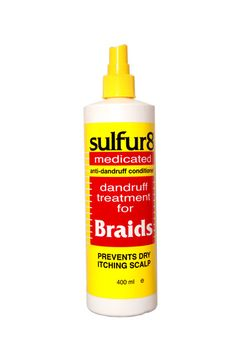 Sulfer 8 Medicated Dandruff Treatment For Braids 12 oz