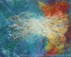 The Sound of Music - Abstract Wool Painting, Wall Hanging, Fiber Art