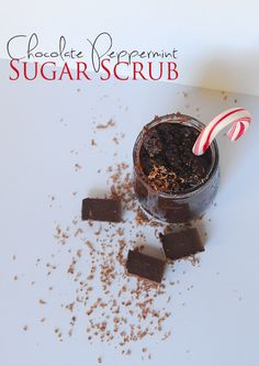 Chocolate Peppermint Sugar Scrub | perfect easy DIY gift for teachers and friends for Christmas and the Holidays. | ReallyAreYouSerious.com