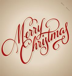 MERRY CHRISTMAS hand lettering | Community Post: 10 Coolest Calligraphic Xmas & New Year's Greetings