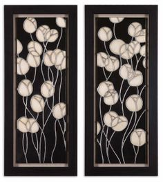 Uttermost Abstract Blossum Wall Art, Set/2