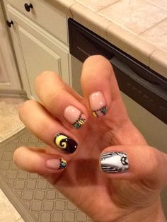 Nightmare Before Christmas nail art :)