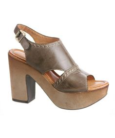 Take a look at this Charcoal Gray Resound Platform Sandal by nicole on #zulily today!