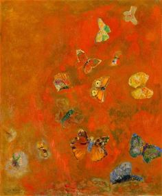 Odilon Redon, Evocation of Butterflies, c.1910-12.