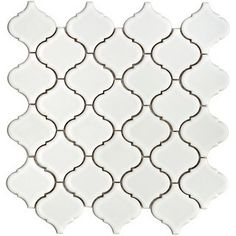 really like this Moroccan style white tile - maybe for the back splash behind the stove