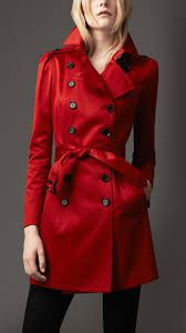 Image result for red trench jackets