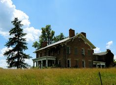 "Another view of the old beauty in Ohio.  Lots more Photographs and info on the photographer's photostream. ""Abandoned Farmhouse."" Photograph by tim perdue, via Flickr. Please, click on in....."