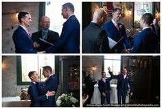 An intimate wedding at Balzac's in Toronto's Distillery District. Tony and Stephen are two of the kindest and most fun guys out there. Toronto Wedding