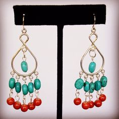Turquoise and carnelian earrings by HaydeeDesigns on Etsy https://www.etsy.com/listing/216497298/turquoise-and-carnelian-earrings #handmade #jewelry #countrylife #westernstyle #western #handmade #jewelry #etsyshop  #jewelrydesign #jewelryonetsy  #mothersday #mom #cowgirl