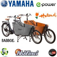 BeoTrend - Babboe City Mountain Yamaha e-bike (grau,braun) Lastenfahrrad
