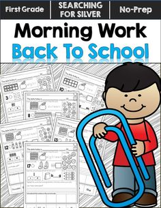 Get back to school with engaging math, literacy, spelling, punctuation, science, and more! Morning Work to start first grade off right!