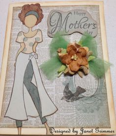 Happy Mother's Day Card with Prima Doll by HeavenlyMoments on Etsy, $5.00
