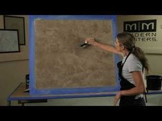 Venetian Plaster Basic Skip Trowel Application Video (short version) by Modern Masters Faux Painting, Painting Tips, Painting Techniques, Venetian Plaster Walls, Plaster Art, Stucco Finishes, Paint Finishes, Tuscan Design, Tuscan Style